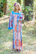 """Fire Maiden"" kaftan in Diamond Aztec pattern"
