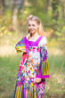 """Fire Maiden"" kaftan in Floral Watercolor Painting pattern"