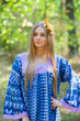"""Fire Maiden"" kaftan in Geometrica pattern"