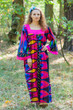"""Fire Maiden"" kaftan in Glowing Flame pattern"