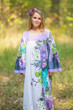 """Fire Maiden"" kaftan in Jungle of Flowers pattern"