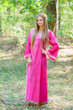 """Fire Maiden"" kaftan in Ombre TieDye pattern"