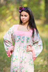 """Fire Maiden"" kaftan in Pink Peonies pattern"