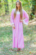 """Fire Maiden"" kaftan in Polka Dots pattern"