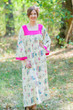 """Fire Maiden"" kaftan in Romantic Florals pattern"