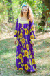 """Fire Maiden"" kaftan in Sunflower Sweet pattern"