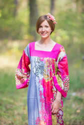 """Fire Maiden"" kaftan in Vibrant Foliage pattern"