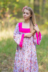 """Fire Maiden"" kaftan in Vintage Chic Floral pattern"