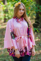 """Oriental Delight"" kaftan Top in Big Butterfly pattern"