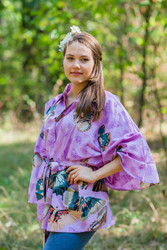 """Oriental Delight"" kaftan Top in Butterfly Baby pattern"