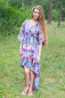 """High Low Wind Flow"" kaftan in Ikat Aztec pattern"