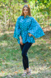 """Oriental Delight"" kaftan Top in Chevron pattern"
