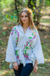 """Oriental Delight"" kaftan Top in Climbing Vines pattern"