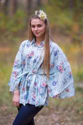 """Oriental Delight"" kaftan Top in Romantic Florals pattern"