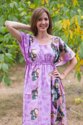 """Side Strings Sweet"" kaftan in Butterfly Baby pattern"
