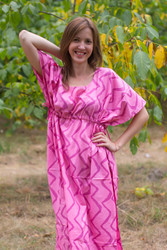 """Side Strings Sweet"" kaftan in Chevron pattern"