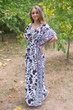 """Side Strings Sweet"" kaftan in Classic White Black pattern"