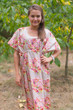 """Side Strings Sweet"" kaftan in Floral Posy pattern"
