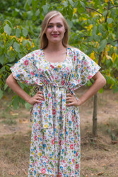 """Side Strings Sweet"" kaftan in Happy Flowers pattern"