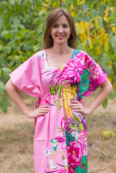 """Side Strings Sweet"" kaftan in Jungle of Flowers pattern"
