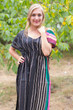 """Side Strings Sweet"" kaftan in Multicolored Stripes pattern"