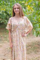 """Side Strings Sweet"" kaftan in Petit Florals pattern"