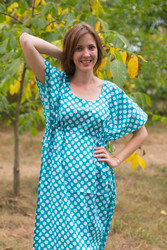 """Side Strings Sweet"" kaftan in Polka Dots pattern"