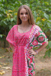 """Side Strings Sweet"" kaftan in Round and Round pattern"