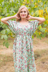 """Side Strings Sweet"" kaftan in Vintage Chic Floral pattern"