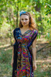 """Magic Sleeves"" kaftan in Cheerful Paisleys pattern"