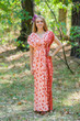"""Magic Sleeves"" kaftan in Chevron Dots pattern"