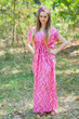 """Magic Sleeves"" kaftan in Chevron pattern"