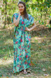 """Magic Sleeves"" kaftan in Cute Bows pattern"
