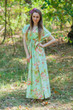 """Magic Sleeves"" kaftan in Flower Rain pattern"