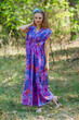 """Magic Sleeves"" kaftan in Ikat Aztec pattern"