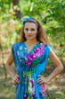 """Magic Sleeves"" kaftan in Jungle of Flowers pattern"