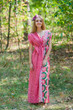 """Magic Sleeves"" kaftan in Round and Round pattern"
