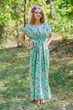 """Magic Sleeves"" kaftan in Vintage Chic Floral pattern"