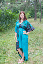 """High Low Wind Flow"" kaftan in Tree of Life pattern"