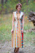 """Cool Summer"" kaftan in Aztec Geometric pattern"
