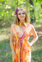 """Cool Summer"" kaftan in Batik Watercolor pattern"