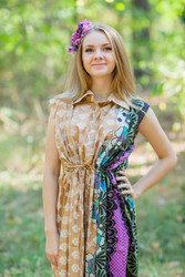 """Cool Summer"" kaftan in Floral Bordered pattern"