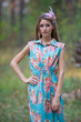 """Cool Summer"" kaftan in Floral Posy pattern"