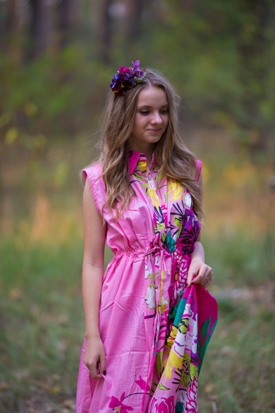"""Cool Summer"" kaftan in Jungle of Flowers pattern"