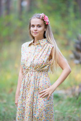 """Cool Summer"" kaftan in Petit Florals pattern"