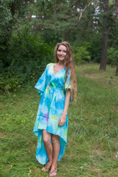 """High Low Wind Flow"" kaftan in Watercolor Splash pattern"