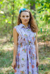 """Cool Summer"" kaftan in Romantic Florals pattern"