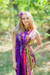 """Cool Summer"" kaftan in Vibrant Foliage pattern"