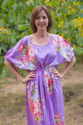 """Cut-out Cute"" kaftan in Cabbage Roses pattern"