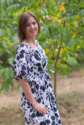 """Cut-out Cute"" kaftan in Classic White Black pattern"